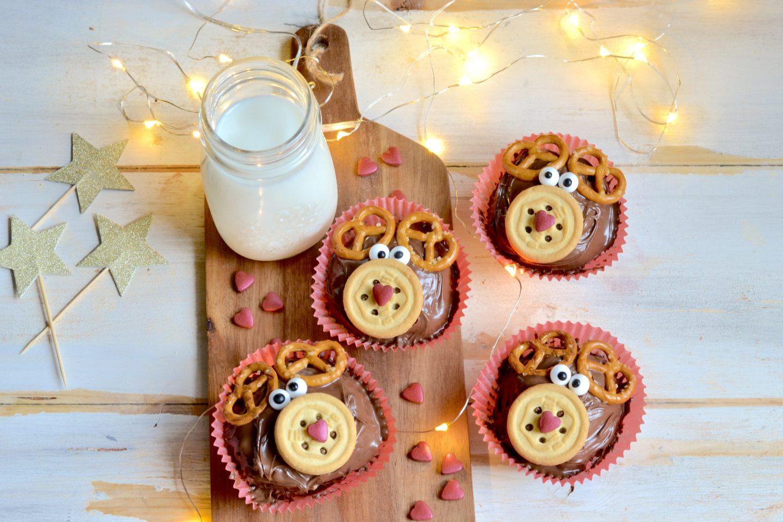 Cupcake a forma di renna
