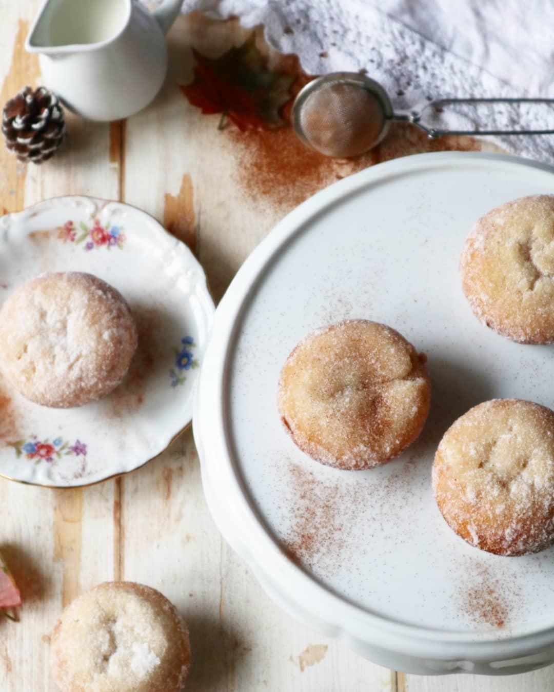 Muffin donuts alla cannella